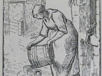 "Jean-Francois Millet ? ""Woman Filling Water Cans"", 1854"
