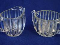 $5.00 for the pair. Vintage Jeannette Glass Ribbed &