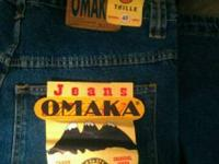 "I have a brand new pair of Men's Jeans by  ""Omaka""."