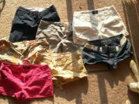 All shorts: size 0-4 Dress pants: first row size 0-3,