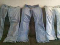 I have 5 pr. of jeans & 1 pr. of sweats for sale. Lee
