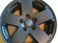 Selling a set of 18 inch all black jeep rims. Came off