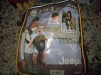Jeep 2-in-1 Baby Carrier   Excellent condition, hardly