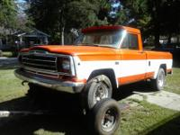 1980 Jeep J10 4WD, 6 Cylinder with 5 speed stick, 94K