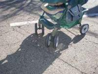 great stroller for one has shocks in front and brakes