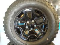 5 (New) Jeep BF Goodridge Mud-Terrain tires and rims