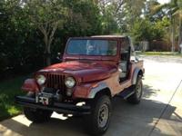1985 Jeep CJ7, New chevy 350, new C350 car. Trans,
