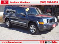 The Jeep Commander offers more capability over rugged