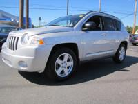 MP3 CD PLAYER. This 2010 Jeep Compass Latitude is value