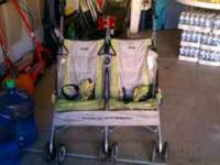 Gently used Jeep brand side by side double stroller for