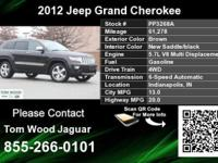 Call Tom Wood Jaguar at  Stock #: PP3268A Year: 2012
