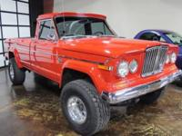 You are looking at a very rare Jeep J-10 Gladiator 4x4