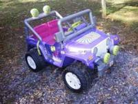 We have a girls Jeep Wrangler Power wheel that we have