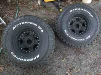 Jeep wrangler/rubicon rims & tires. Bolt pattern 5 x