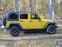 up for sale is my 2008 jeep rubicon Detonator yellow