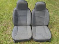 (1) This is a set of gray cloth front seats from a 2000