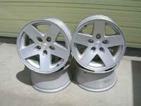"For Sale - a set of 17"" rims with 5 bolt holes, off"