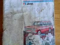 1976 Jeep Technical Service Manual for sale call or