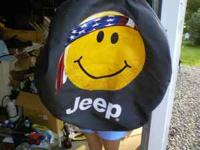 Like new Jeep Spare tire cover, it fits a 16 inch wheel