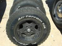 I have 5 tires and aluminum wheels from a Jeep ... 30 x