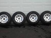 4235/75 R15 Goodyear Wrangler tires on 15x8 American