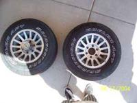 This is a set of jeep wagoneer wheels they are in
