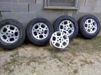 jeep wheels and tires from a 1999 jeep grand cherokee