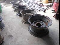 "SET OF WIDE JEEP WHEELS (15"" X 8"" WIDE) THESE ALSO FIT"