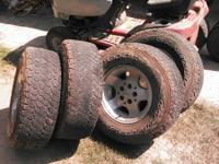 Wheels and tires off of 1999 Jeep Sahara. Also have