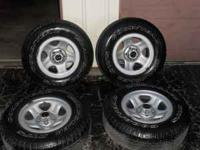 Nice same as new set of 4 Jeep tires and wheels. Tire