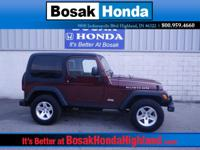 Extremely clean 2004 Jeep Wrangler garage-kept