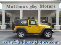 **2008 JEEP WRANGLER X**2-OWNERS**CLEAN CARFAX**LOW