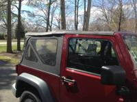 Available is a full soft top for a JK 2 door consisting