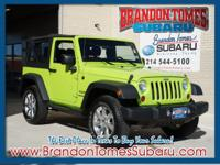 Feast your eyes on this green 2013 Jeep Wrangler Sport!