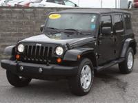 4WD. SAHARA, 4 DOOR!! BLACK WITH LOW MILES!!Talk about
