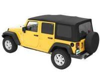Jeep Wrangler Complete Soft Top-Black, Made by Mopar,
