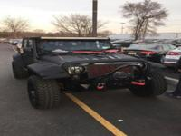 The Jeep Wrangler fully custom, from the outside all