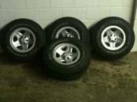 NICE SET OF STOCK RIMS AND TIRES FOR JEEP WRANGLER W
