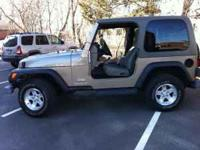 For Sale: One Factory Hard Top for a Jeep Wrangler TJ.