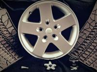 "5 - Alloy 17"" Wheels, only 17 original miles and"