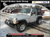 Price Reduced from $16,995___ 2006 Jeep Wrangler X___