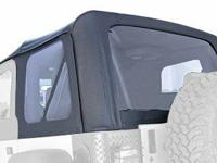 Jeep Wrangler YJ 87-95 Black soft top Rugged Ridge