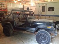 1987 wrangler yj no motor, trans,top or doors good