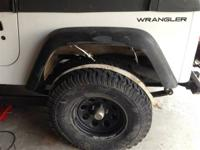 Set of 4 Fender Flares - TJ flares that were set up on