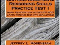 New from Rosenspan MCAT Preparation.This practice test,