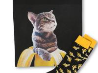 Bananas. Cats. It's a gift set any guy would love,