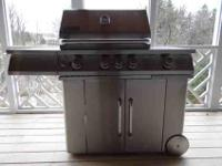 Jenn-Air Stainless Steel LP Gas Grill. The Grill Master