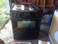 Jenn air stove. Electric. Down draft. About a years of