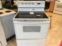 Jenn-Air White Smooth Top Range Stove Oven - USED