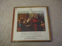Handel: Jephtha boxed LP set in new condition, still